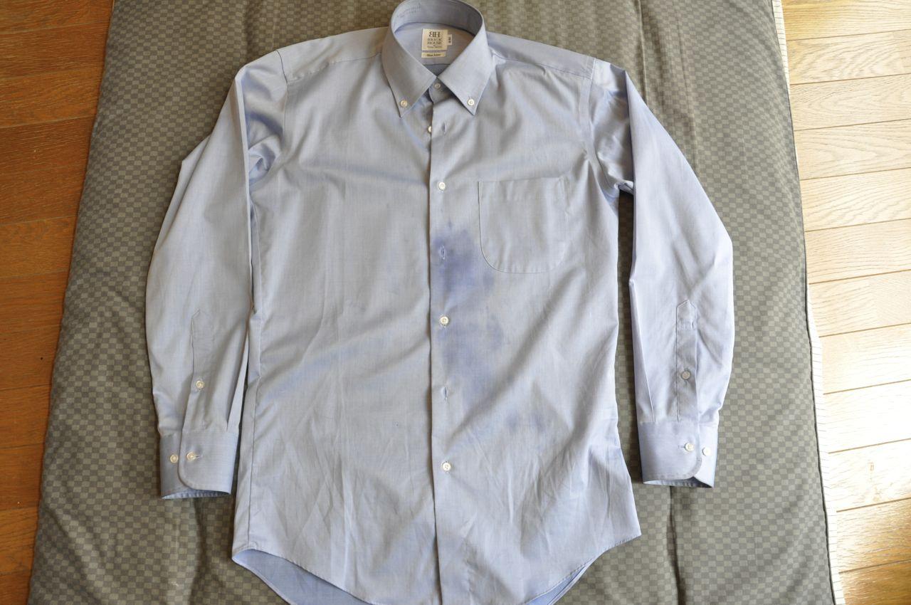 シャツ油汚れ0607