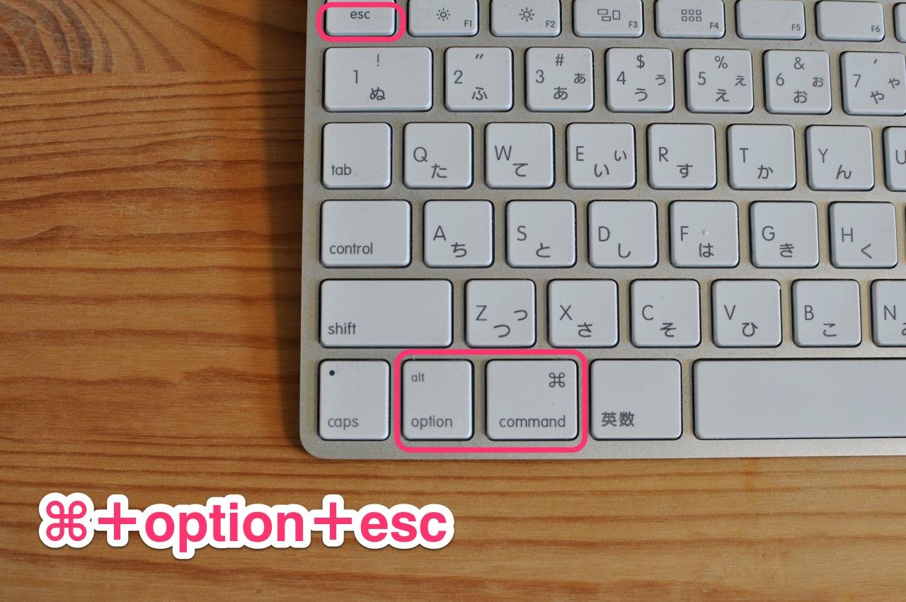 ⌘+option+esc