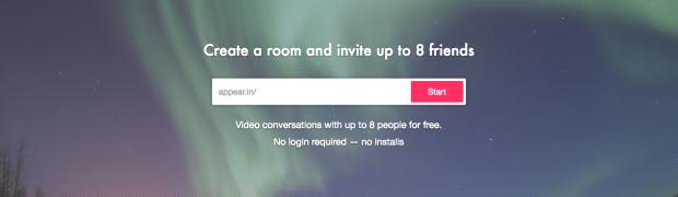 10秒でビデオ会議が始められる「appear.in」がインストール不要で使いやす過ぎ!